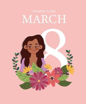 Priorità bassa di giorno della donna con i fiori