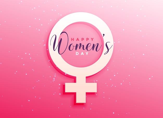 Celebrazione di giorno delle donne saluto sfondo