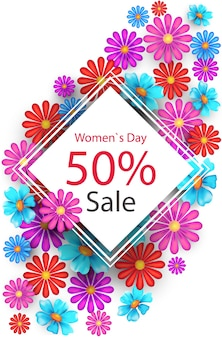 Manifesto di vendita del giorno della donna