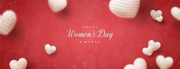 Vendita di giorno della donna con palloncini rosa amore.