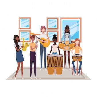 Donne con strumenti musicali