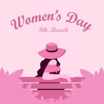 Modello di promozione della cartolina d'auguri del giorno delle donne