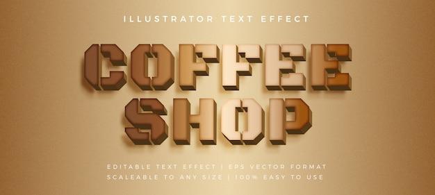 Effetto di carattere di legno del testo del caffè