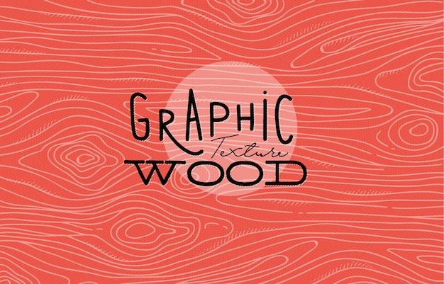 Struttura grafica di legno che disegna con le linee grige