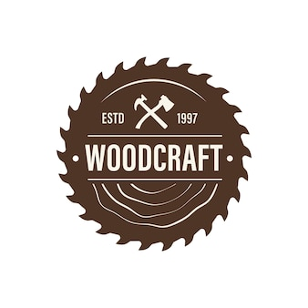 Logo aziendale delle industrie del legno
