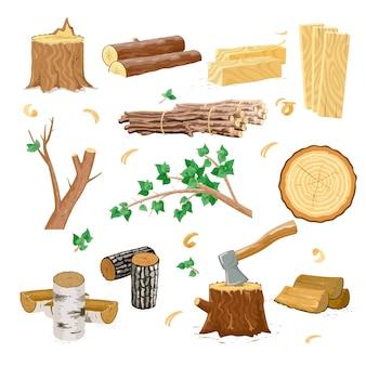 Icone dell'industria del legno