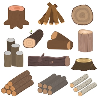Tronchi di materiali in legno