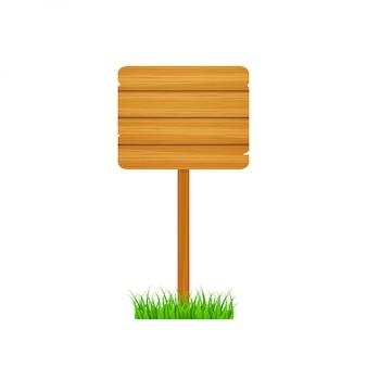 Il legno firma nello stile d'annata. cartello in legno. disegno della bandiera. illustrazione di riserva.