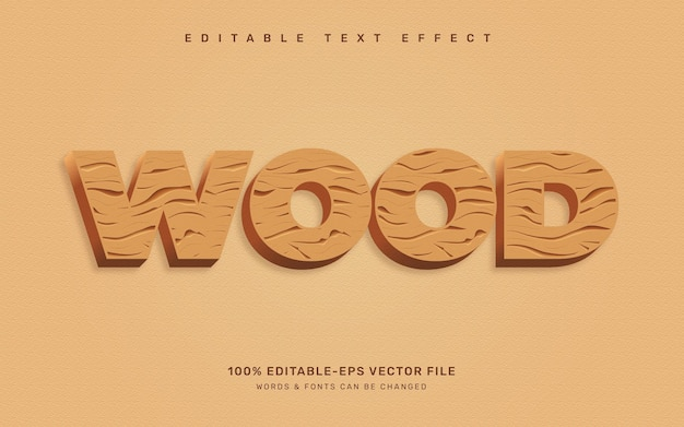 Effetto testo legno