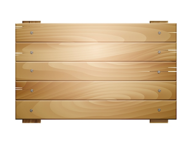 Segno di tavola di legno isolato su priorità bassa bianca