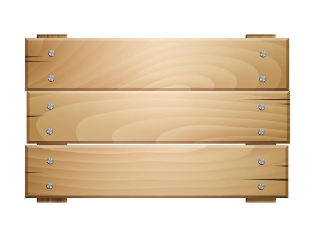 Segno di tavola di legno su sfondo bianco