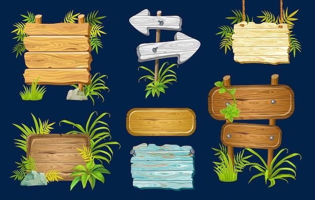 Tavole di legno con spazio per il testo.