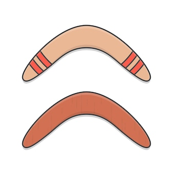 Boomerang in legno icona illustrazione