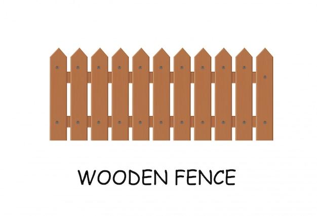 Staccionata in legno. illustrazione vettoriale di un recinto fuori.