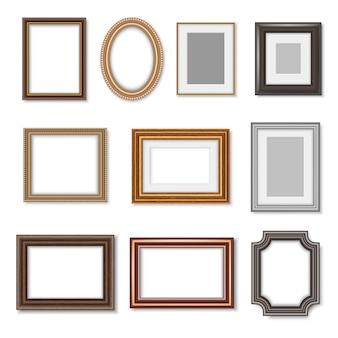 Cornici per foto in legno e bordi dorati