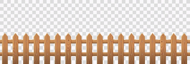 Staccionata in legno per cortile rustico o fattoria