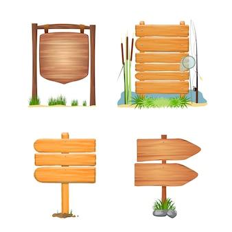 Tavola di legno estate sfondo modello di segni. impostato