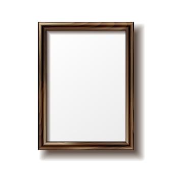 Portafoto rettangolare in legno con ombra.