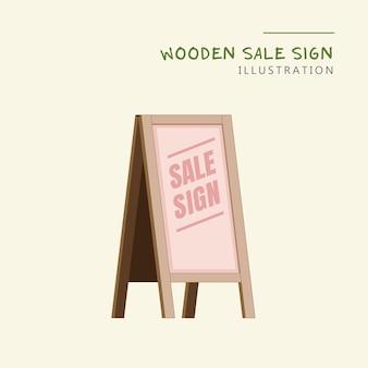 Segno di vendita negozio di legno