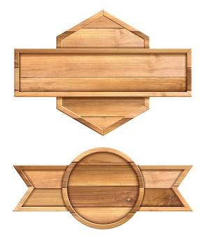 Cartello in legno isolato su sfondo bianco