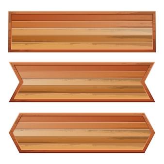 Cartello in legno isolato