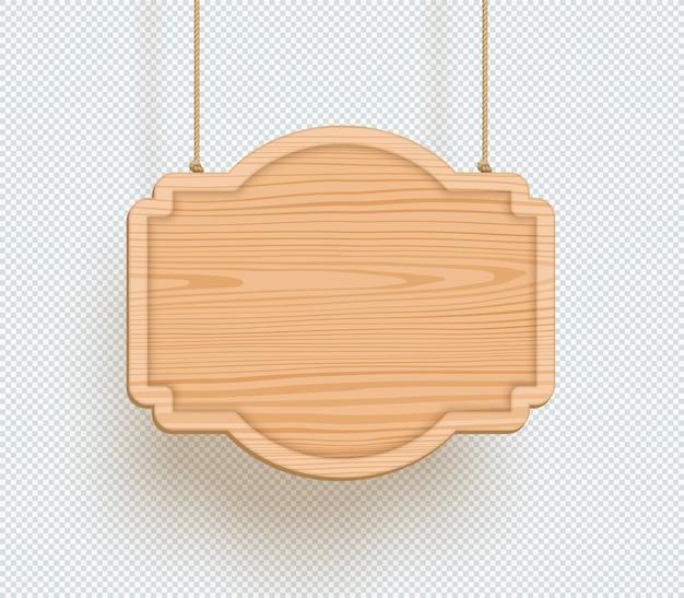 Cartello in legno pianura vuota 3d hanging board