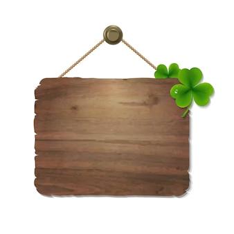 Cartello in legno con gradiente maglie
