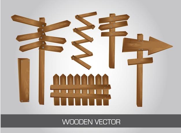 Cartello in legno