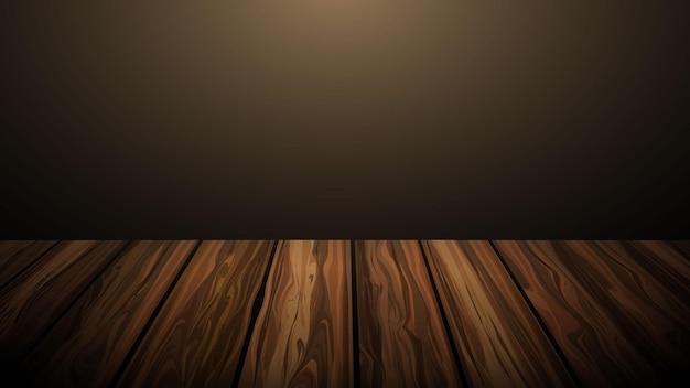 Piano del tavolo in legno con sfondo sfumato