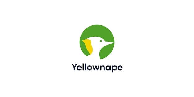 Modello di progettazione del logo picchio yellownape
