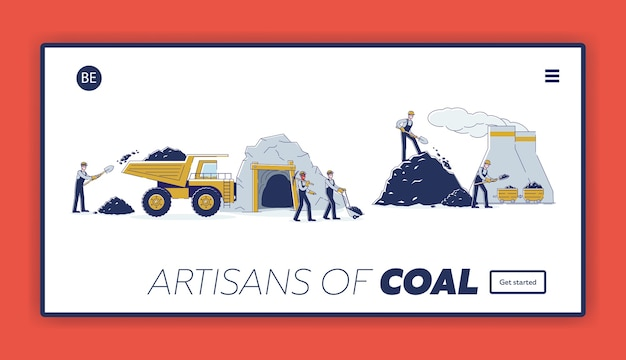 La squadra di lavoro estrae carbone insieme