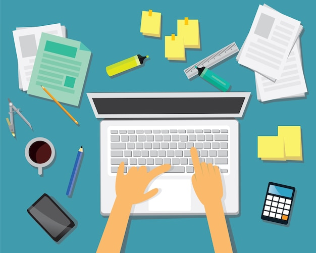 Concetto di affari di scrivania