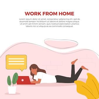 Illustrazione di lavoro da casa