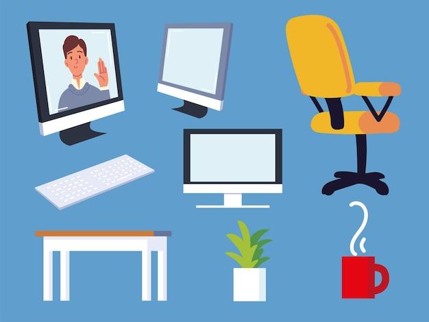 Set da lavoro per ufficio