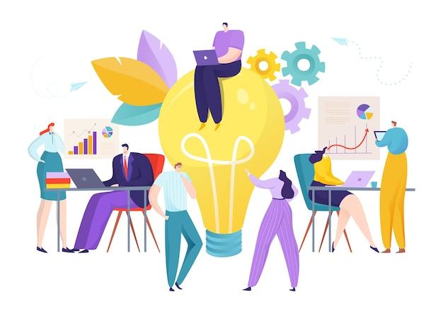 Lavorare persone con un'idea creativa