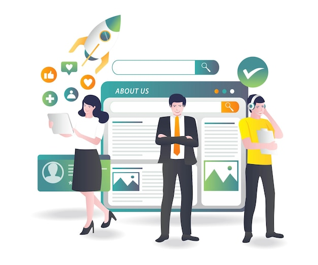 Il team di lavoro introduce gli investimenti e l'azienda