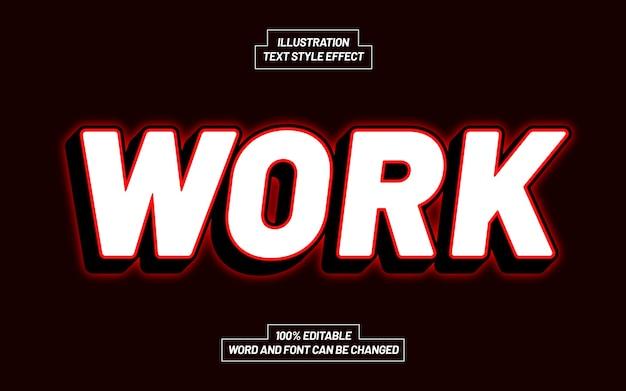 Effetto stile testo di lavoro