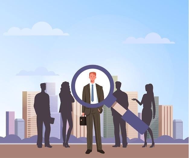 Il candidato lavoratore sceglie. concetto di reclutamento di posti vacanti.