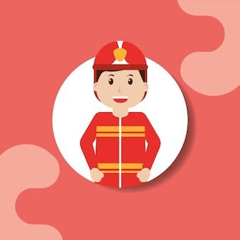 Operaio pompiere nel ritratto professionale casco sicuro