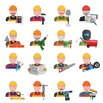 Set di icone di lavoratore