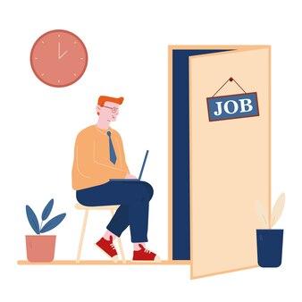 Concetto di processo di occupazione di lavoro