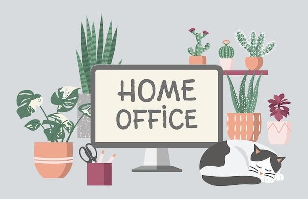 Lavorare da casa sul posto di lavoro