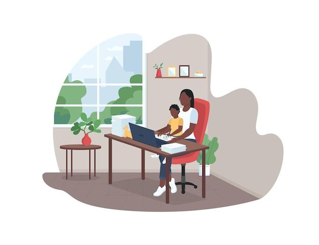 Illustrazione del manifesto della madre di lavoro