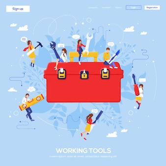 Pagina di destinazione degli strumenti di lavoro