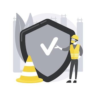 Illustrazione di concetto astratto di sicurezza sul posto di lavoro.
