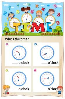 Foglio di lavoro per raccontare il tempo