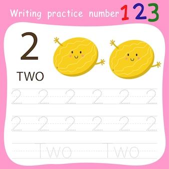 Foglio di lavoro esercizio di scrittura numero due