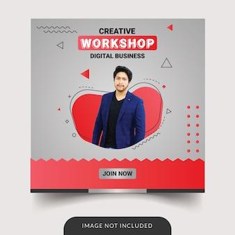 Modello di social media workshop