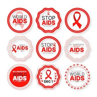 Distintivi della giornata mondiale contro l'aids