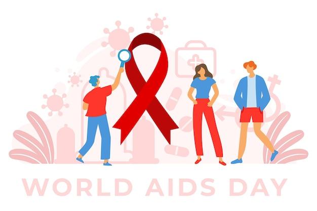 Concetto illustrato della giornata mondiale contro l'aids